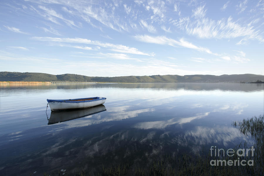 Boat On Knysna Lagoon Photograph