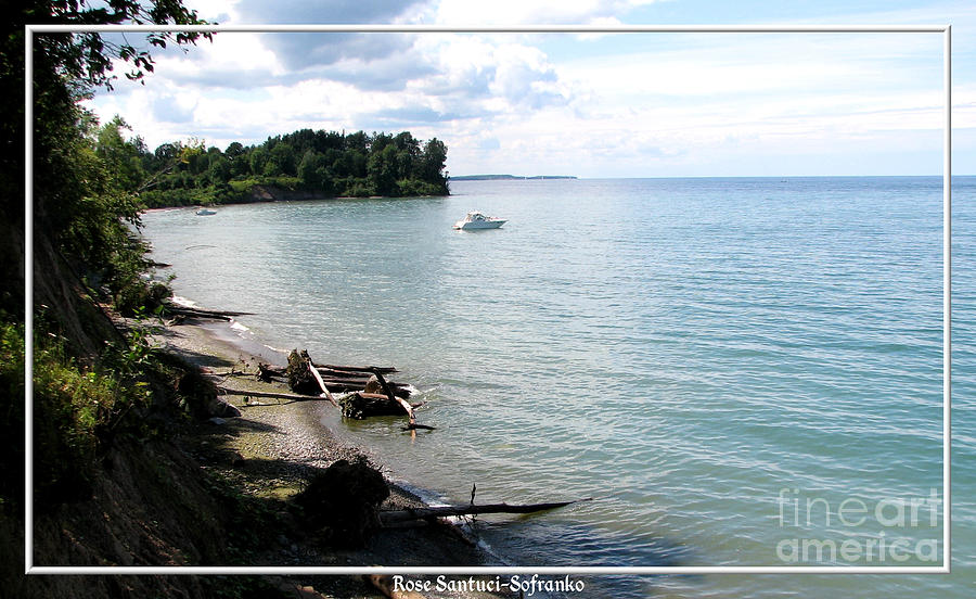 Boat On Lake Ontario Photograph