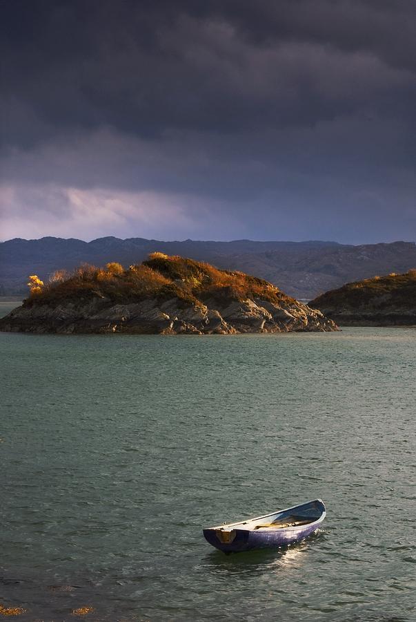 Boat On Loch Sunart, Scotland Photograph
