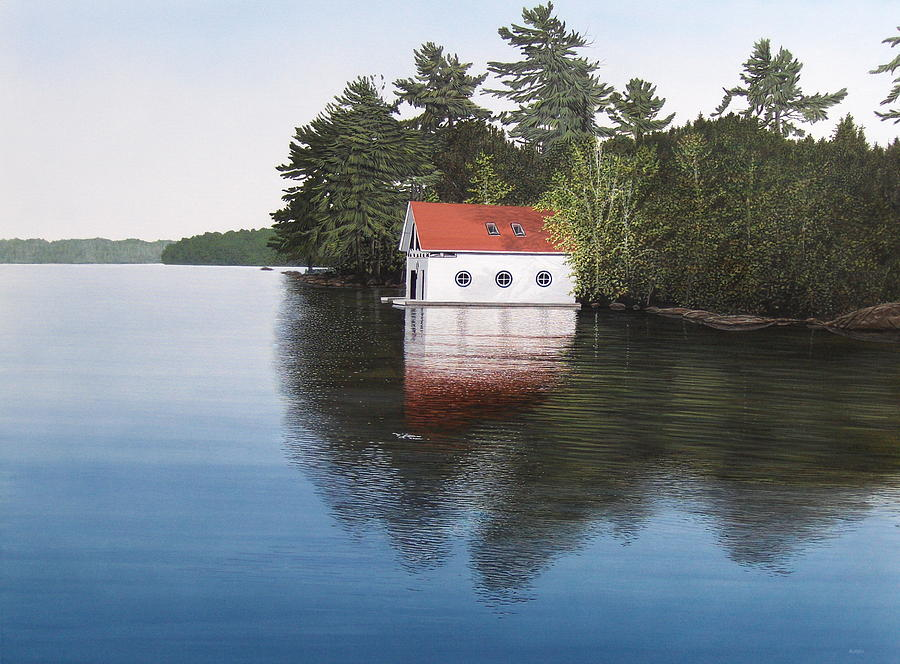 Boathouse Painting  - Boathouse Fine Art Print