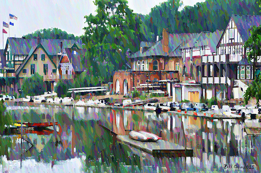 Boathouse Row In Philadelphia Photograph