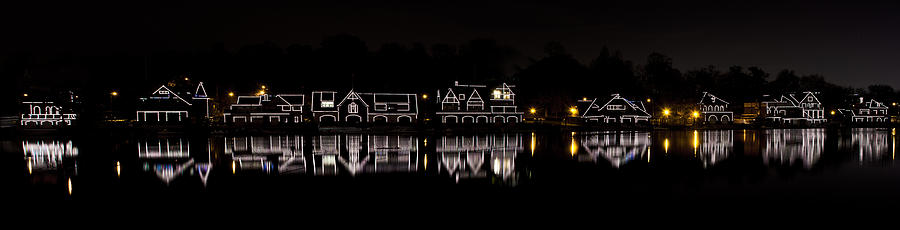 Boathouse Row Panorama - Philadelphia Photograph  - Boathouse Row Panorama - Philadelphia Fine Art Print