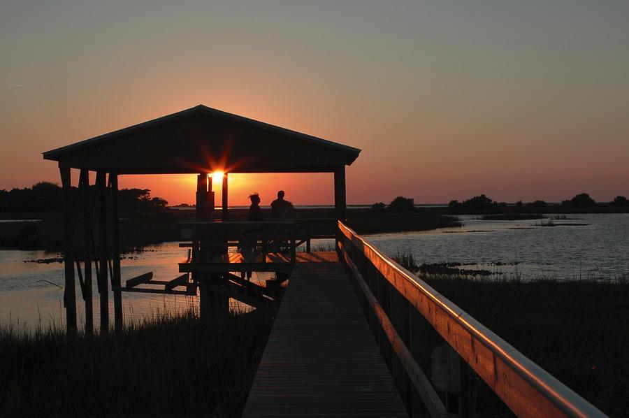 Boathouse Sunset Photograph