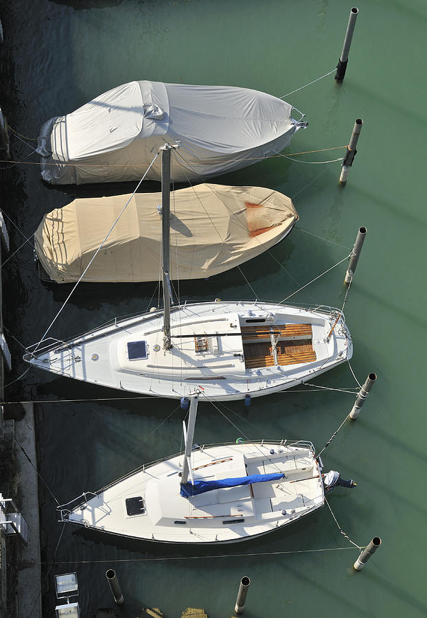 Boats And Water From Above Photograph