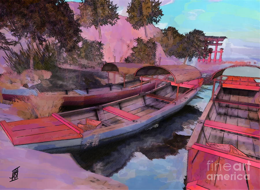 Boats At Rest Painting  - Boats At Rest Fine Art Print
