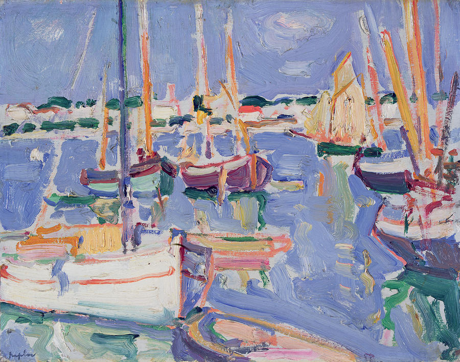 Boats At Royan Painting  - Boats At Royan Fine Art Print