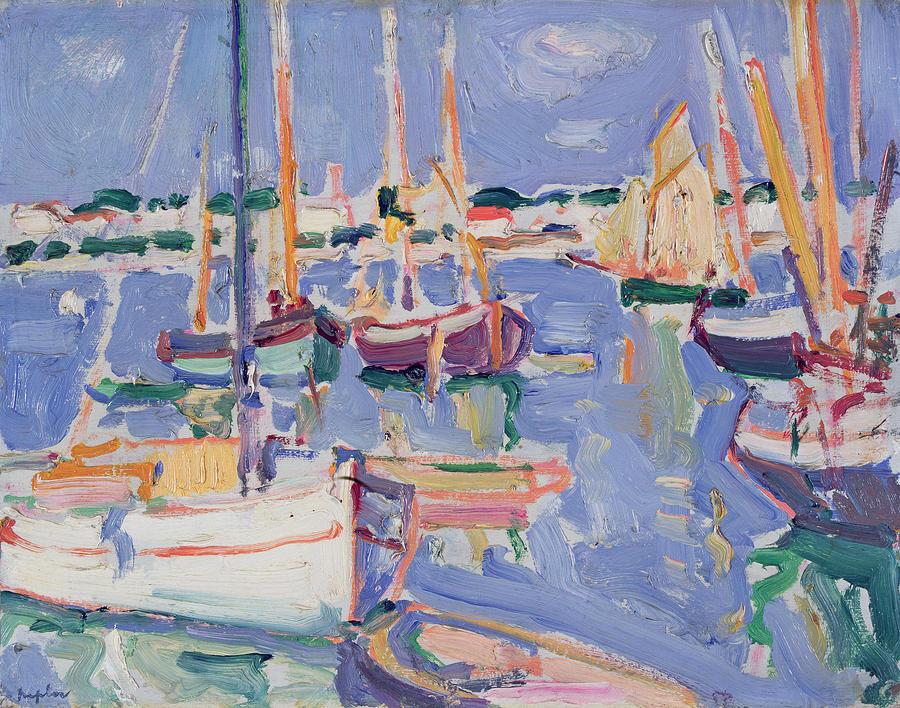 Boats At Royan Painting