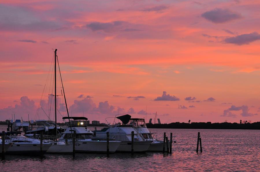 Boats At Sunset Photograph