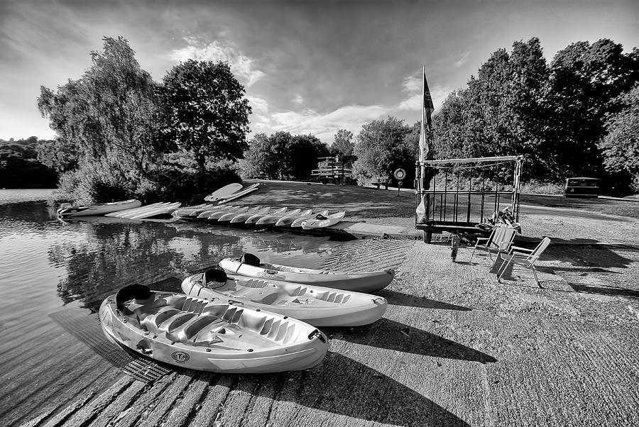Boats At The Pond Photograph