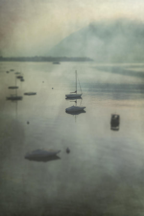 Boats In Mist Photograph  - Boats In Mist Fine Art Print