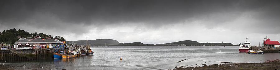 Boats Moored In The Harbor Oban Photograph  - Boats Moored In The Harbor Oban Fine Art Print