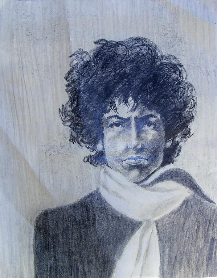 Bob Dylan In The Rock Years Drawing  - Bob Dylan In The Rock Years Fine Art Print