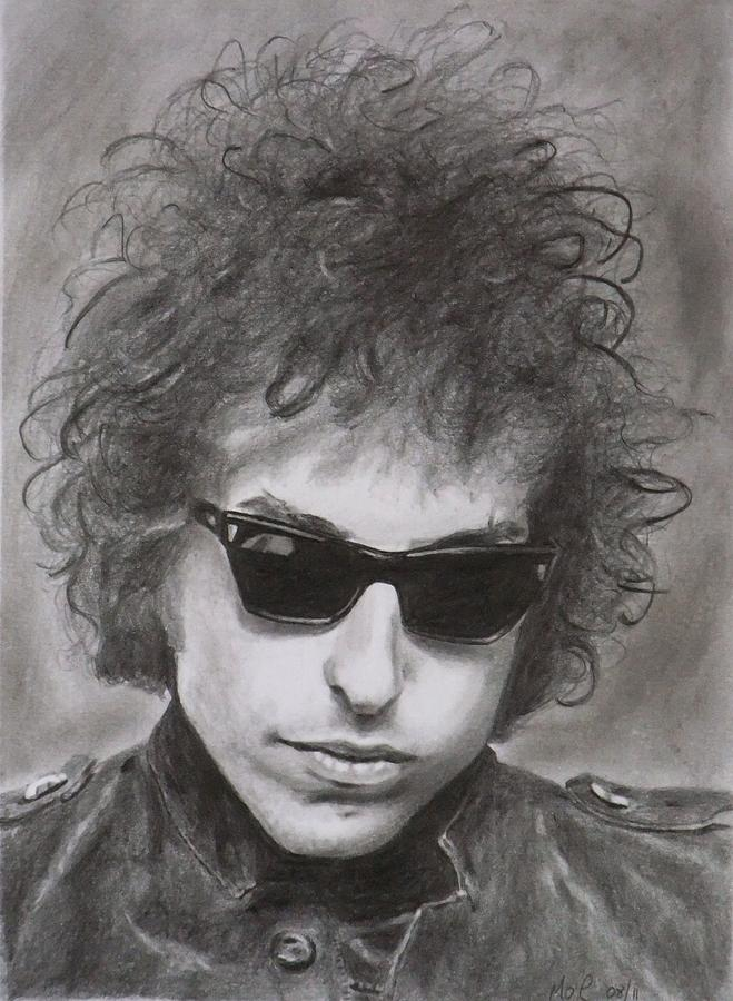 Bob Dylan Drawing - Bob Dylan by Mike OConnell