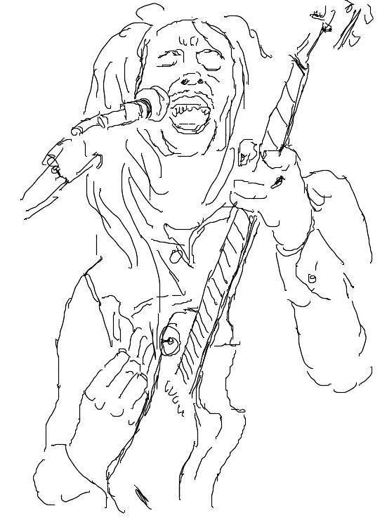 how to draw bob marley sketch