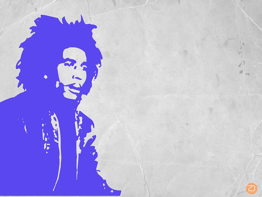 Bob Marley Purple 3 Painting  - Bob Marley Purple 3 Fine Art Print