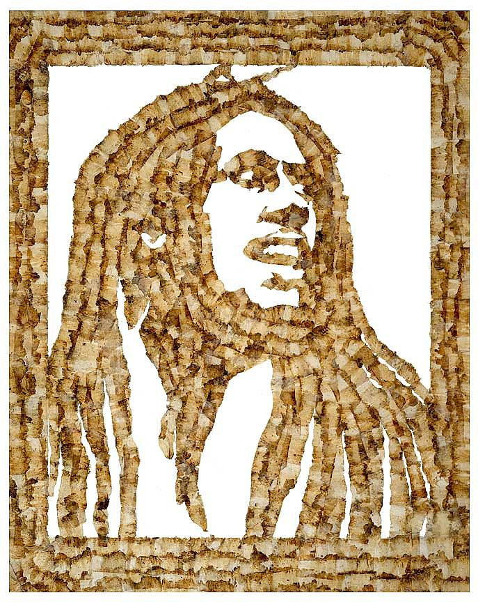 Bob Marley Roach Mixed Media
