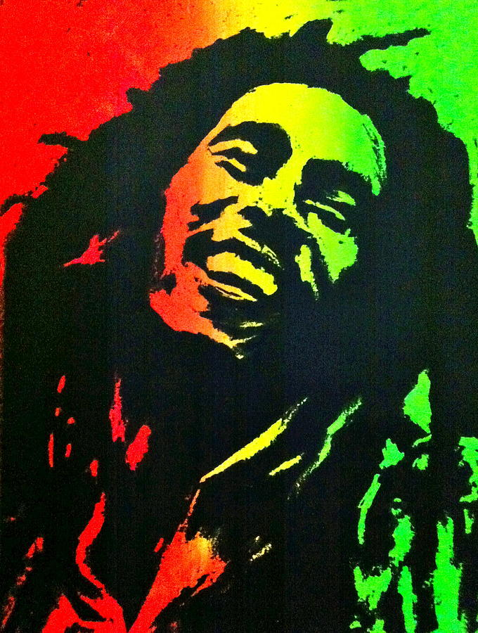 Bob Marley Smile Painting