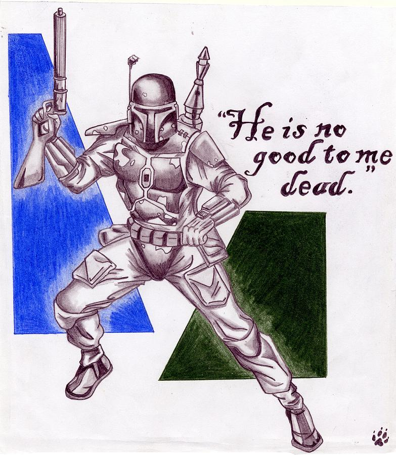 Boba Fett Drawing