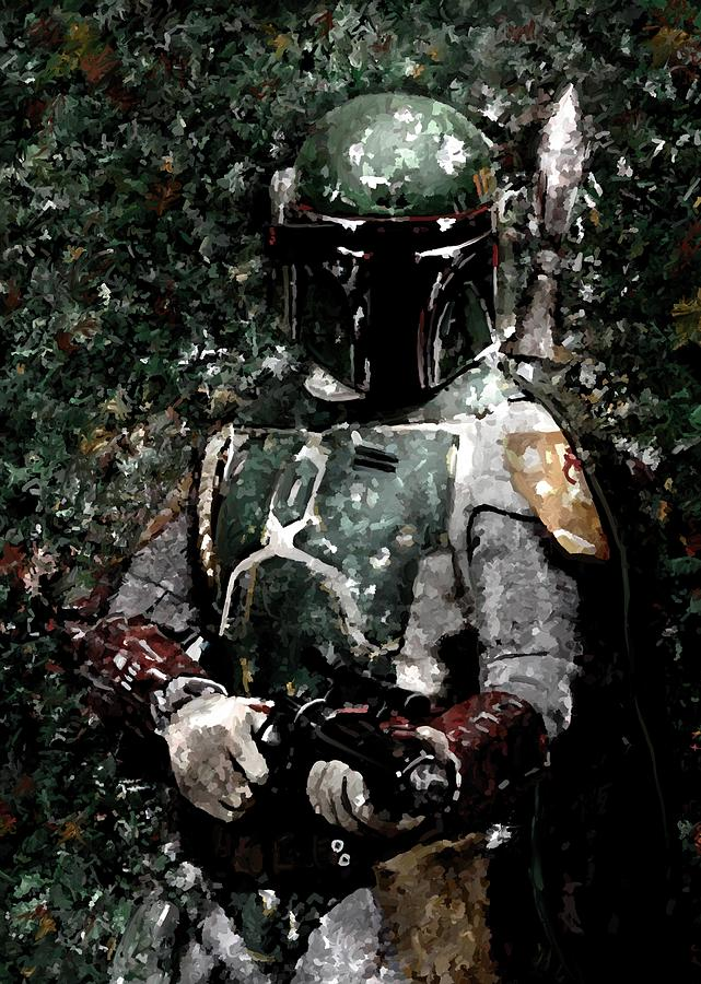Boba Fett Portrait Art Painting Signed Prints Available At Laartwork.com Coupon Code Kodak Painting