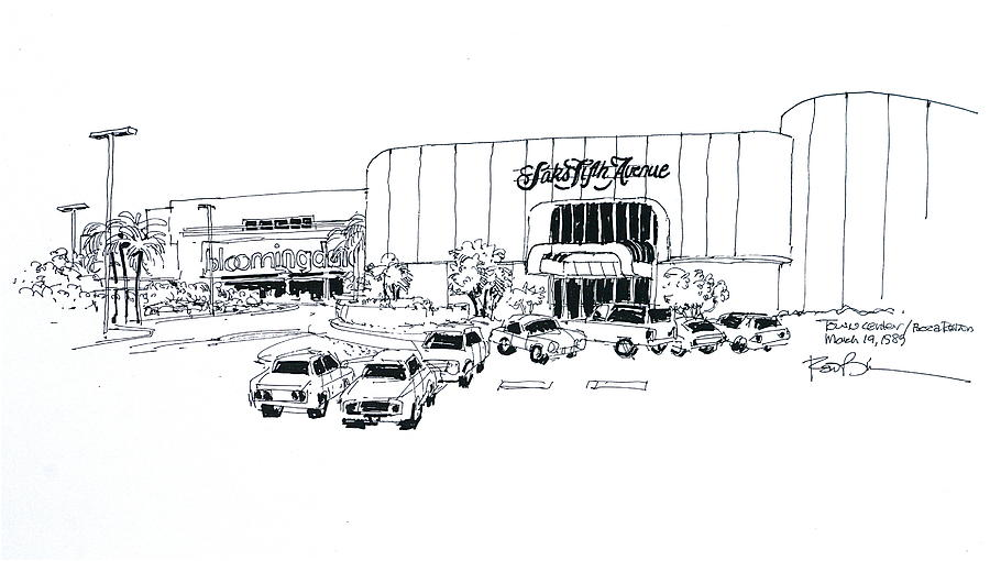 Boca Raton Town Center Mall Drawing