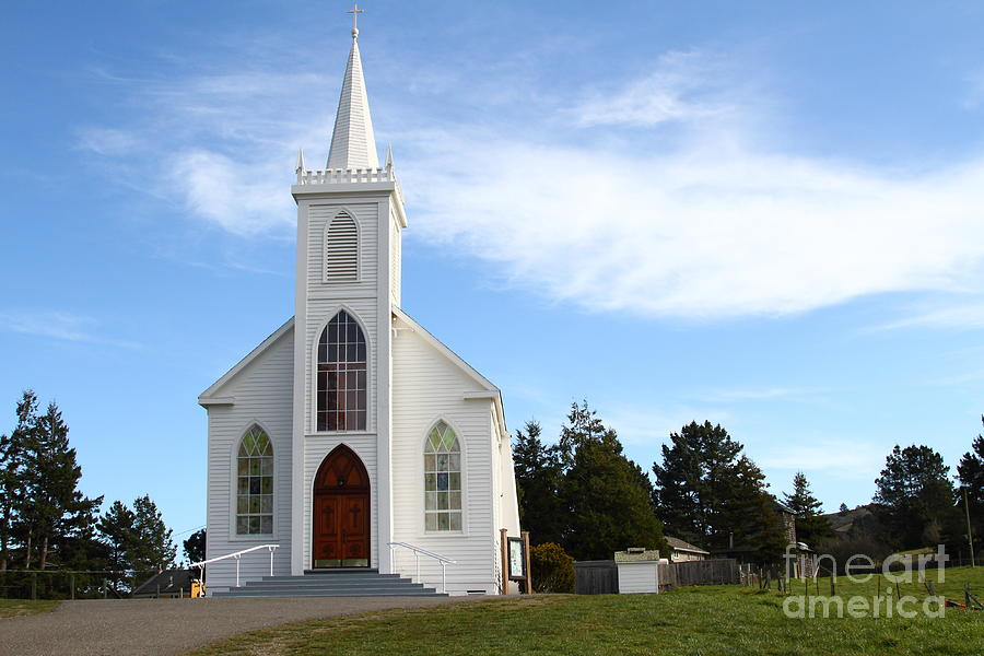 Bodega Catholic Church . Bodega Bay . Town Of Bodega . 7d12437 Photograph  - Bodega Catholic Church . Bodega Bay . Town Of Bodega . 7d12437 Fine Art Print