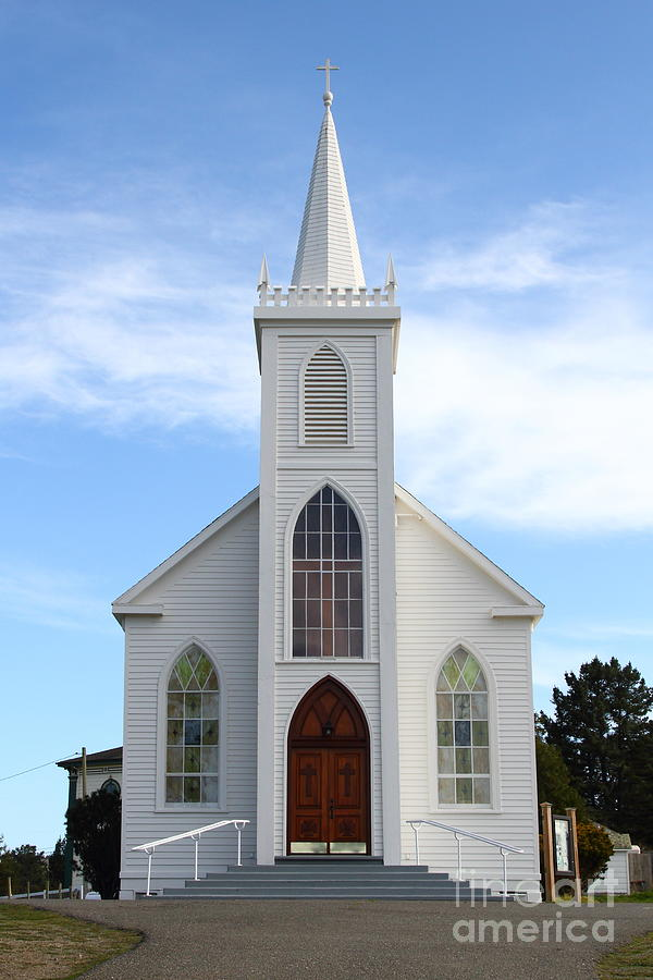Bodega Catholic Church . Bodega Bay . Town Of Bodega . 7d12438 Photograph