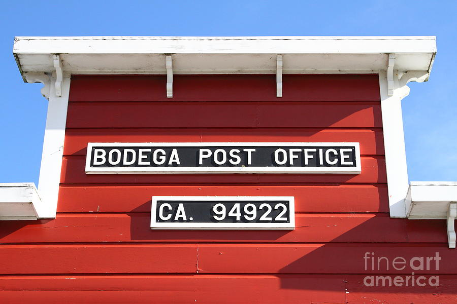 Bodega Post Office . Bodega Bay . Town Of Bodega . California . 7d12465 Photograph  - Bodega Post Office . Bodega Bay . Town Of Bodega . California . 7d12465 Fine Art Print