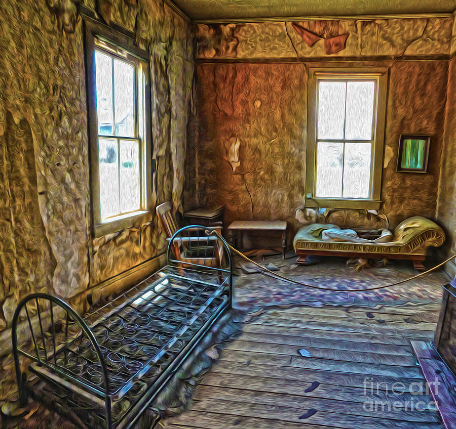 Bodie Ghost Town Painting - Bodie Ghost Town - Old House 03 by Gregory Dyer