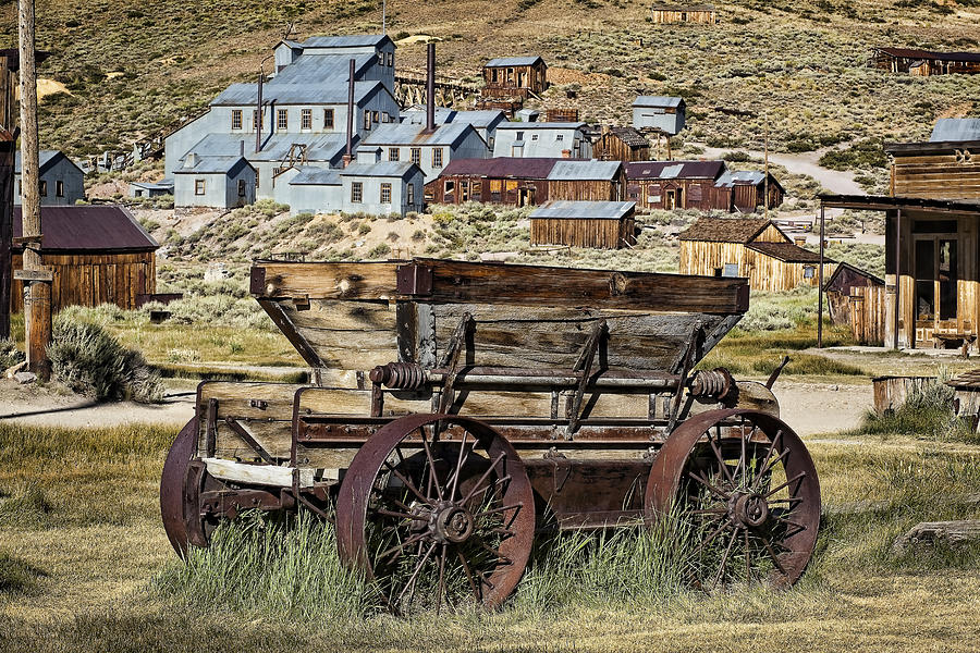 Bodie Photograph - Bodie Wagon by Kelley King