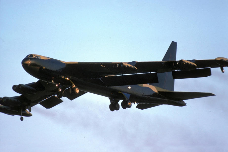 Boeing B-52d 56-0612 At March Air Force Base Photograph  - Boeing B-52d 56-0612 At March Air Force Base Fine Art Print