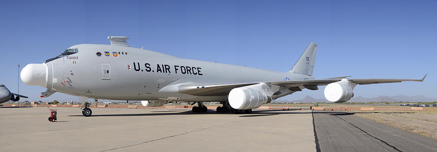 Airplane Photograph - Boeing Yal-1a Airborne Laser Testbed Davis-monthan Afb April 15 2012 by Brian Lockett