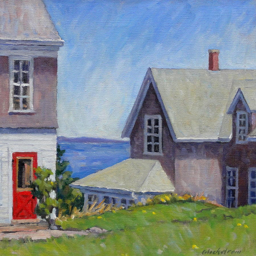 Bogdanov House Monhegan Painting