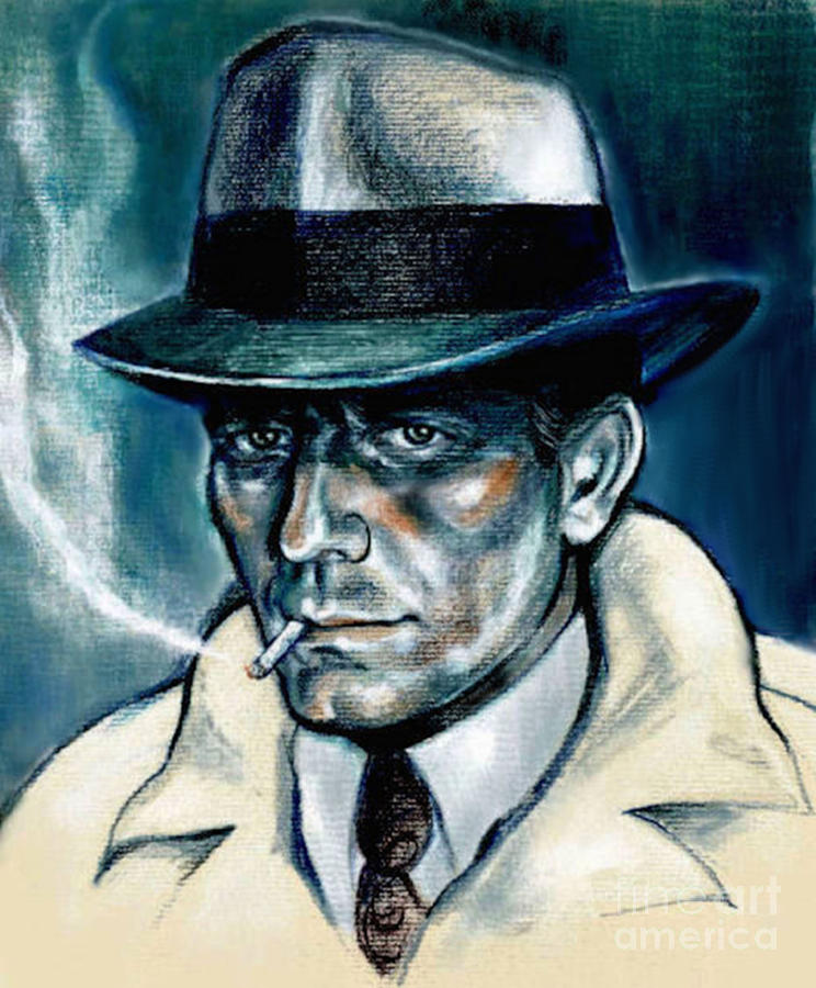 Humphrey Bogart Painting - Bogie by Elinor Mavor