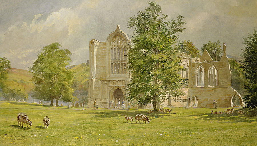 Bolton Abbey  Painting  - Bolton Abbey  Fine Art Print