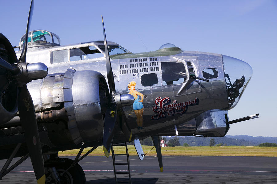 Bomber Sentimental Journey Photograph  - Bomber Sentimental Journey Fine Art Print