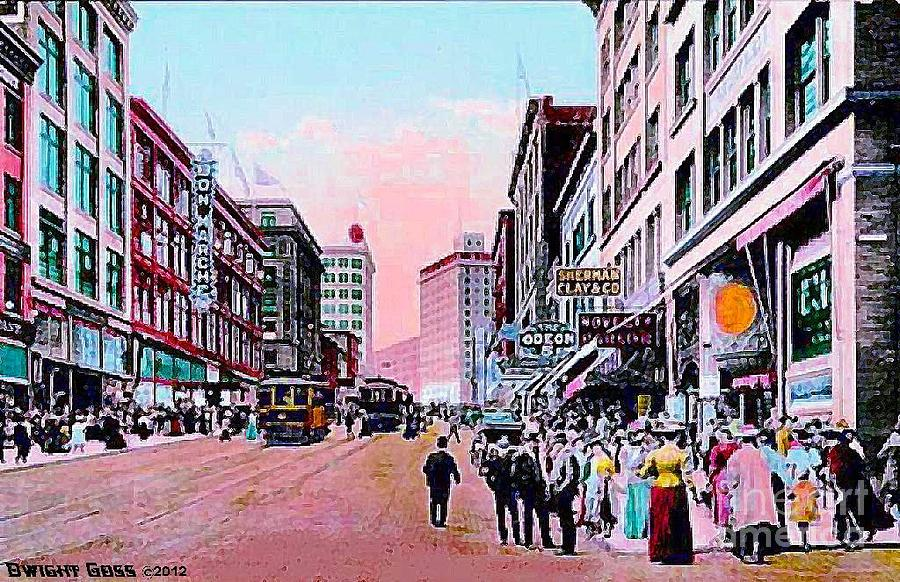 Bon marche department store in seattle wa in 1910 painting for Paint store seattle