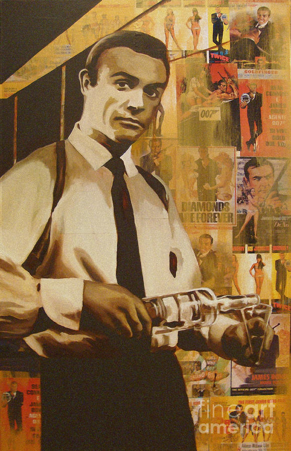 Bond - James Bond Painting  - Bond - James Bond Fine Art Print