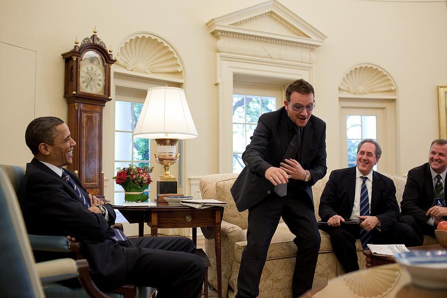 Bono Lead Singer Of U2 And Anti-poverty Photograph