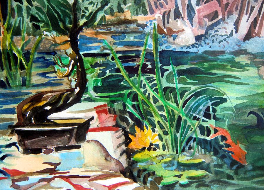 Bonsai Meditations Painting