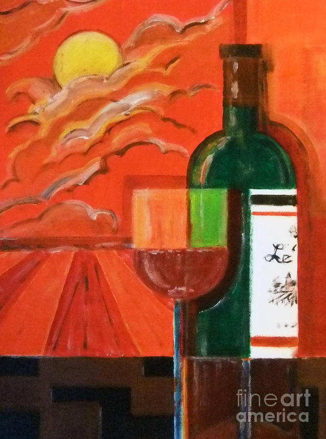 Bonsoir Bordeaux Painting