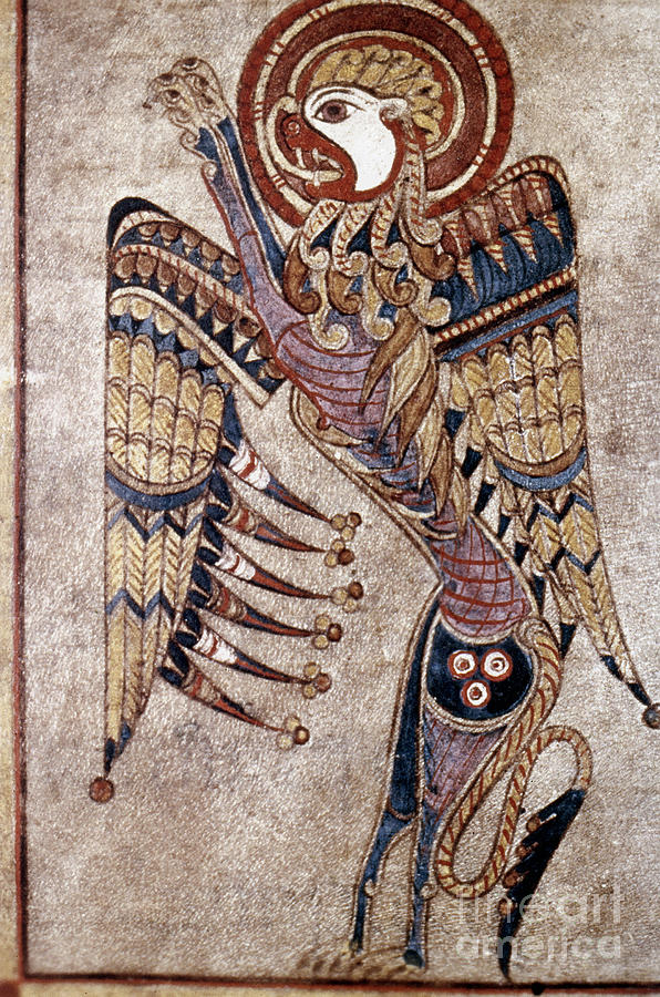 Book Of Kells: Saint Mark Painting  - Book Of Kells: Saint Mark Fine Art Print