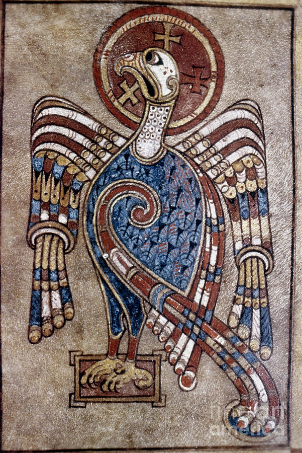 Book Of Kells: St John Painting