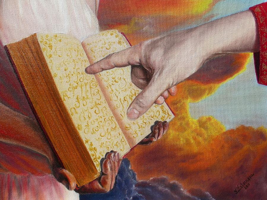 Resurrection Painting - Book Of Life by Yulia Litvinova