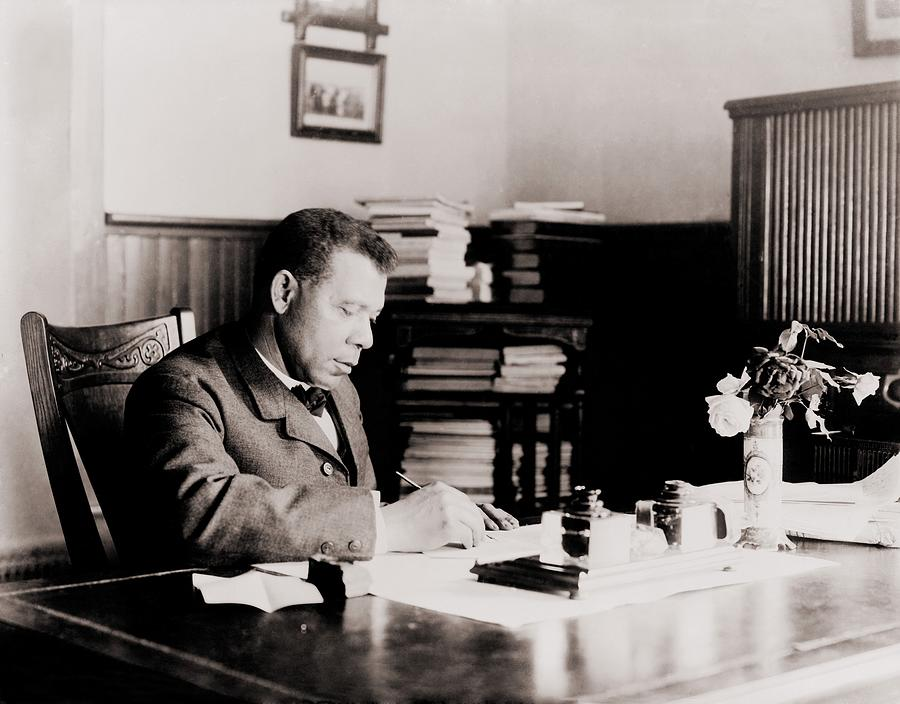 Booker T. Washington 1856-1915, Writing Photograph  - Booker T. Washington 1856-1915, Writing Fine Art Print