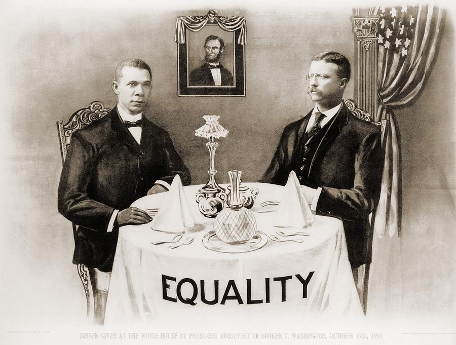 Booker T. Washington Dines Photograph
