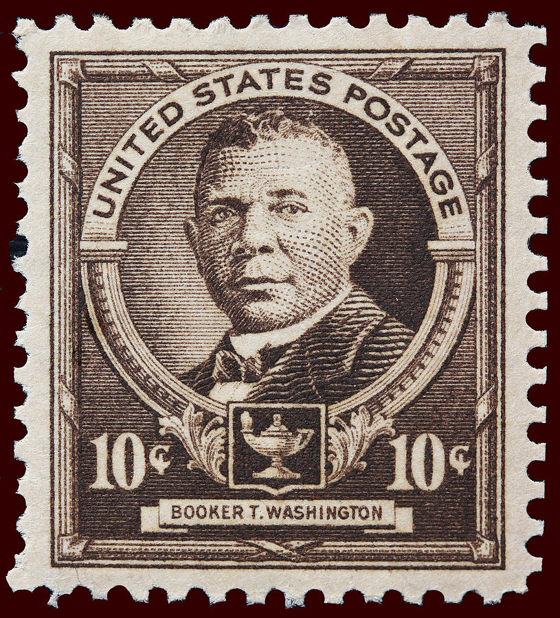 Booker T Washington Postage Stamp Photograph