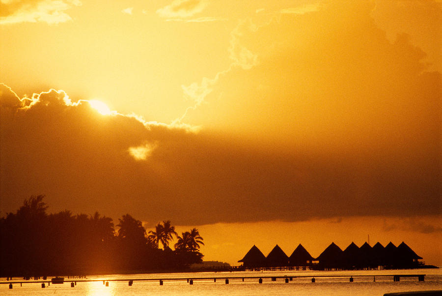 Bora Bora, Sunset Photograph  - Bora Bora, Sunset Fine Art Print
