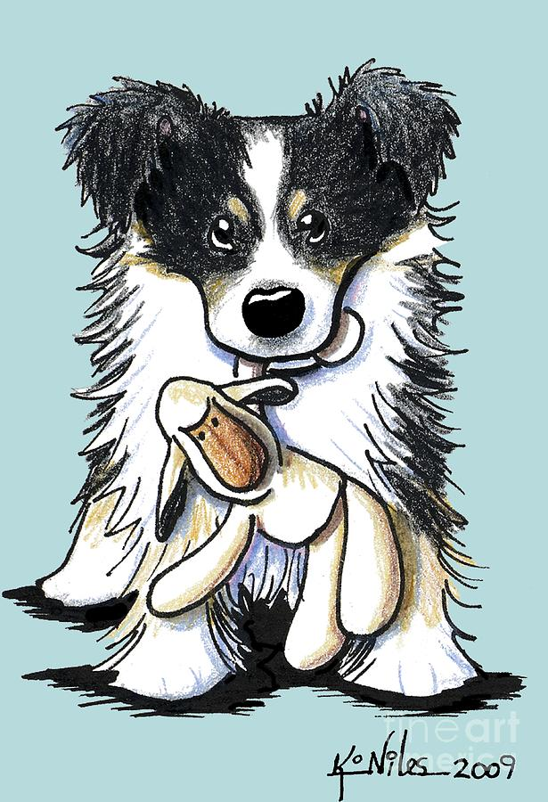Border Collie Mixed Media  - Border Collie Fine Art Print