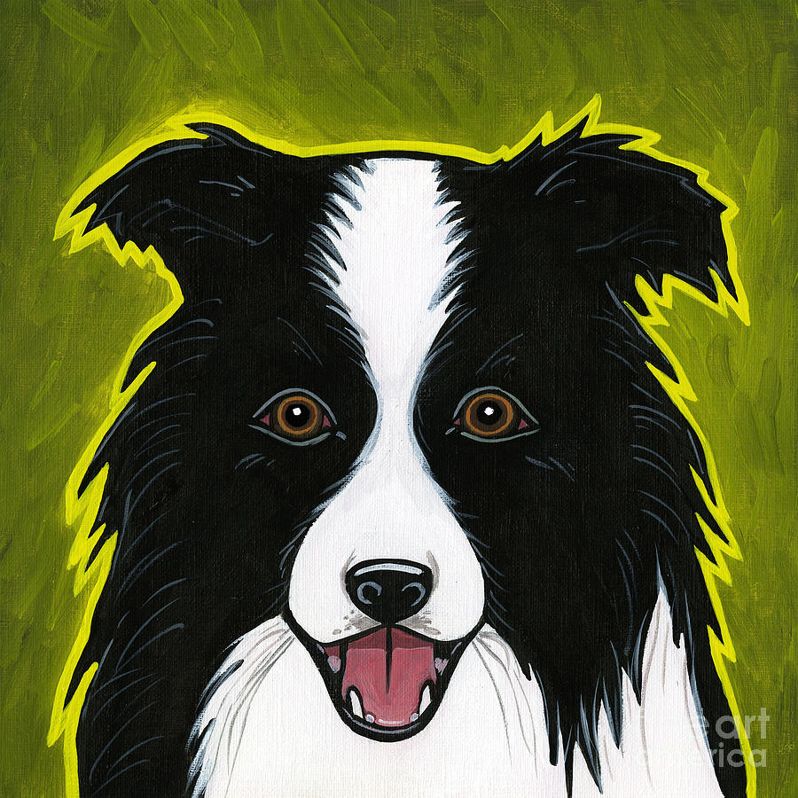 Border Collie Painting  - Border Collie Fine Art Print