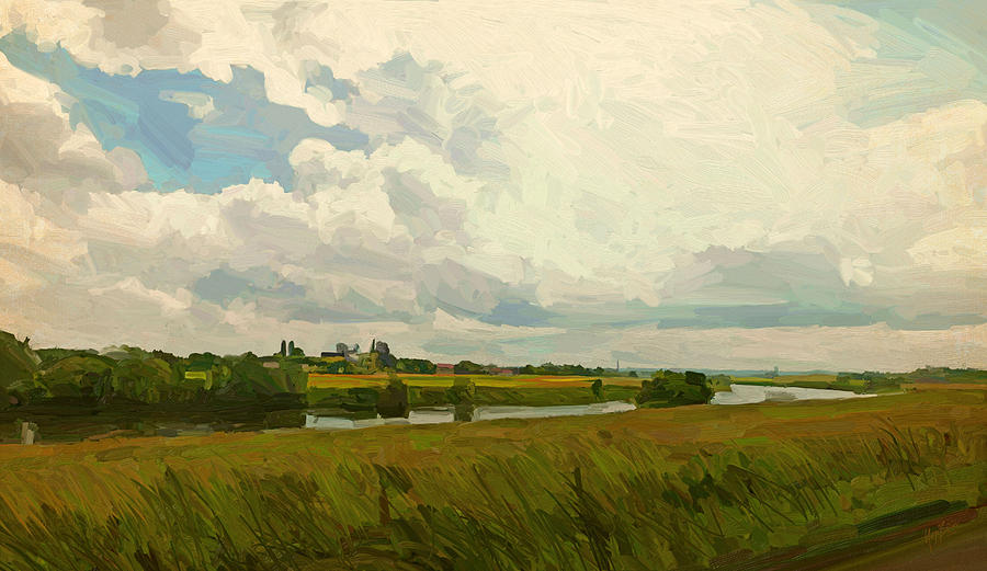 Summer Painting - Borgharen Netherlands by Nop Briex